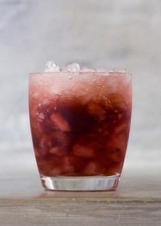 Crush and Swizzle - pomegranate juice, white rum, simple syrup, prosecco
