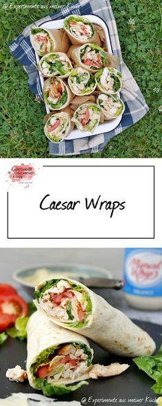 Caesar Wraps   Rezept   Kochen   Picknick   Fingerfood   Weight Watchers