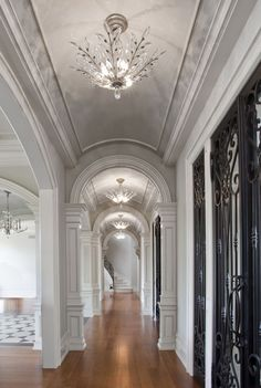 Modern Luxury Kitchens For A Grand Kitchen Architecture Details, Interior Architecture, Interior And Exterior, Luxury Interior, Interior Ideas, Barrel Vault Ceiling, Villa, Foyer Decorating, Luxury Kitchens