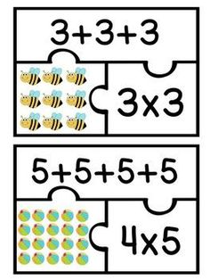 It's a nice product, but Saxon does not teach arrays l ike this. I think I would have my students make their own puzzles during Math centers as we begin multiplication memorization. Multiplication Activities, Math Activities, Array Multiplication, Math Tutor, Teaching Math, Math For Kids, Fun Math, Math Stations, Math Centers