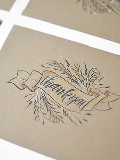 Love this printable (it's free!) thank you note. So pretty and just begging for a little extra pen flourish.