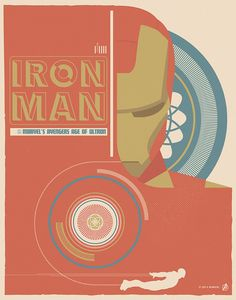 """Iron Man"" by Matt Needle Marvel's Avengers: Age of Ultron Art Showcase now open at Hero Complex Gallery"