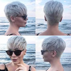 Today we have the most stylish 86 Cute Short Pixie Haircuts. We claim that you have never seen such elegant and eye-catching short hairstyles before. Pixie haircut, of course, offers a lot of options for the hair of the ladies'… Continue Reading → Short Hair Cuts For Women, Short Hairstyles For Women, Hairstyles Haircuts, Short Hair In Back, Hair Cuts Edgy, Edgy Short Hair, Super Short Hair, Stylish Hairstyles, Ladies Hairstyles
