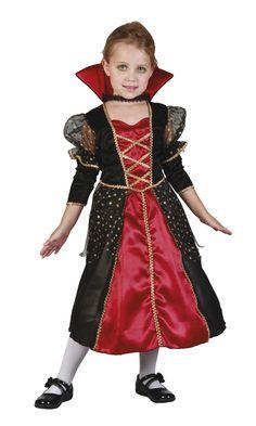 Draculina Kostüm, Vampir Kleid für Mädchen