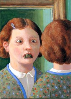 Michael Sowa - (Reflection in the mirror)Michael SowaMore Pins Like This At FOSTERGINGER @ Pinterest