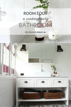 An old Queenslander in Brisbane mixes contemporary and traditional in the bathroom with the most amazing tiles.