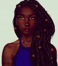 By - Beginning to get the hang of it.dreads and happy birthday to me 😁😁🎉🎉💃🏾 - . Black Girl Cartoon, Black Girl Art, Black Women Art, Art Girl, Black Girls, African American Artwork, African Art, Dreads, Black Fairy