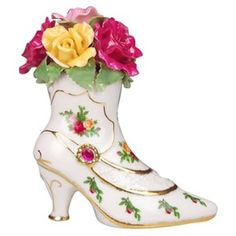 Shoes! Royal Albert, Glass Shoes, China Teapot, Decorated Shoes, Ceramic Flowers, Glass Slipper, China Patterns, Dinnerware Sets, Royal Doulton