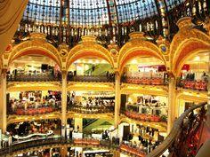 Galeries de Lafayette - beautiful store #Paris #France  Photo by Carly Carson