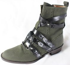 "~~~ LOOOVE THIS LOOK ~~~ $995 JEROME C ROUSSEAU ""LEATHER-STRAP"" ANKLE BOOTS ~ 39 #JeromeCRousseau #FashionAnkle"
