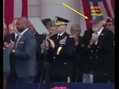 Elvis Aron Presley alive gray cap assisted at President Obama's Veterans...