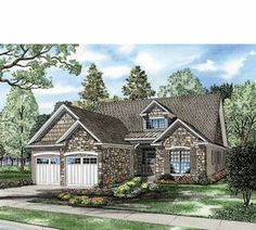 Eplans Craftsman House Plan - Small Plan with Big Appeal - 1588 Square Feet and 3 Bedrooms(s) from Eplans - House Plan Code French Country House Plans, European House Plans, French Country Bedrooms, Craftsman Style House Plans, Modern Farmhouse Plans, Cottage House Plans, French Cottage, New House Plans, European Plan