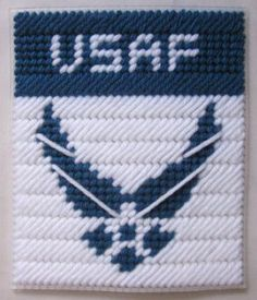 U.S. Air Force tissue box cover pattern in plastic canvas (pattern) - $2.50