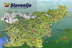 Tourist map of Slovenia