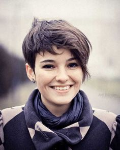 Brown Pixie Cut for Girls