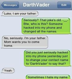 Troll dad texts his son