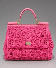 Achados........dali e daqui - photo of a crochet handbag