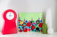 Contemporary Abstract Art Drops of Paint by GabyFriedman on Etsy