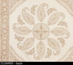 Peter Dunham Samarkand Fabric in Sepia for wall treatment in dining room