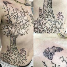 A stunning woodland scene tattoo Breast Cancer Tattoos, Mastectomy Tattoo, Something Beautiful, Flower Tattoos, Tattoo Inspiration, Instagram Posts, Tattoo Art, Woodland, Scene