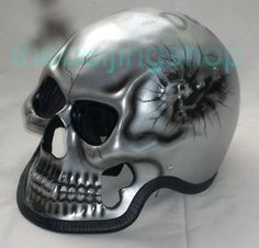 Silver Ghost Skull Skeleton Full Face Motorcycle Helmet Full Face Motorcycle Helmets, Skeleton, Silver, Art, Motorcycle Helmets, Motorbikes, Art Background, Kunst, Skeletons
