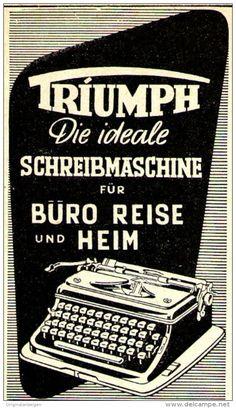 Original-Werbung/ Anzeige 1951 - TRIUMPH SCHREIBMASCHINE  - ca. 45 x 75 mm