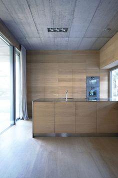 Sleek wood kitchen