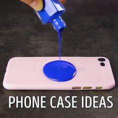 Cool DIY Cases for Your Phone - basteln - Diy Crafts Hacks, Diy Home Crafts, Diy Arts And Crafts, Creative Crafts, Fun Crafts, Diy Projects, Diy Case, Diy Phone Case, Phone Cases