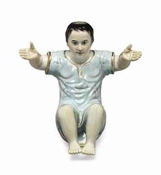 A very rare Chinese export figure of the Christ child, 19th/20th century.
