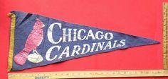 Vintage 1940's 50's Chicago Cardinals Felt Pennant NFL Football Original RARE please retweet