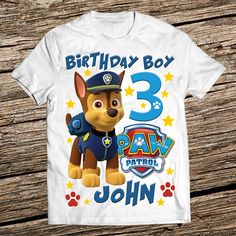 Paw Patrol Birthday Shirt Boy 3rd Parties
