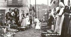 Peixeiras. Bueu .Década do 1920. (entre a esquina da rúa Eduardo Vicenti e Montero Ríos) Ollar Galicia