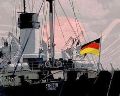 'Stettin' von hamburgart bei artflakes.com als Poster oder Kunstdruck $22.17