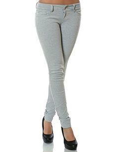 Damen Hose Stoffhose Jeans Röhre Skinny Leggings Treggings Jeggings Lang Hosen
