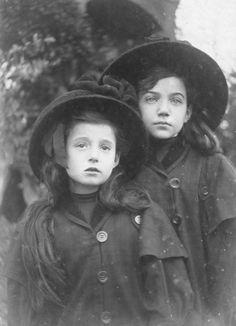 2 girls • circa 1900
