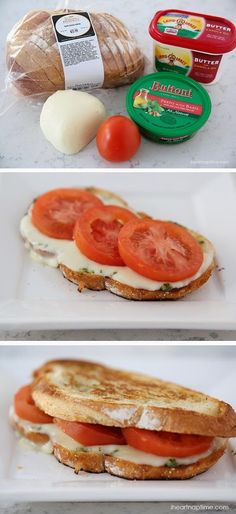 One of my all time favorite sandwiches is a grilled caprese sandwich. I've been making them for years and then one day I had one at a local restaurant that put pesto inside. My mind was blown! My all time favorite sandwich just got even better! Seriously, it is so good. Plus it is super easy to make. Takes 10 minutes or less. Can't beat that! ;)