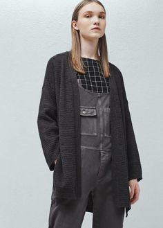 Charcoal Cardigan from Mango
