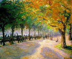Hyde Park London 1890 ~ Camille Pissarro ~ (French: 1830-1903)