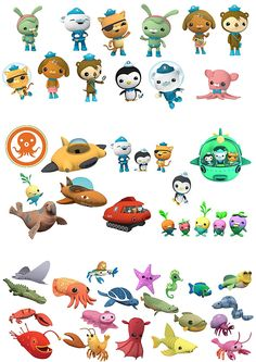 48 Octonauts Sea Animals stand up Characters Edible Wafer Paper Cake Toppers 4th Birthday Cakes, Sons Birthday, Boy Birthday Parties, Octonauts Party, Wafer Paper Cake, Decorating Tools, Childrens Party, Cute Characters, Cake Toppers