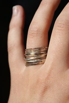Hannahnaomi Set of 15 Sterling Silver Stacking rings, $57