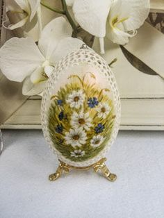 Goose Shell Egg Hand Carved Unique Gift от DreamPresents на Etsy