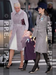Crown Princess Mette-Marit of Norway and Crown Princess Mary of Denmark are joined by Princess Isabella to attend the thanksgiving service as part of the 40th Jubilee celebration for Queen Margrethe II of Denmark.on 15 Jan 2012