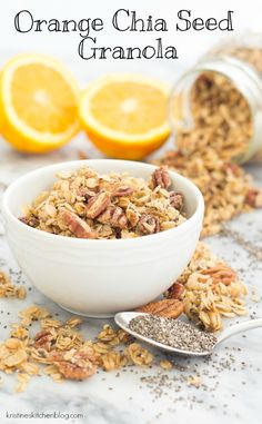 You'll love the hint of orange in this Orange Chia Seed Granola from @kristinekitchen