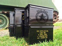 Set of 5 BLACK Engraved Ammo Box Groomsmen Gift by gorillatactical