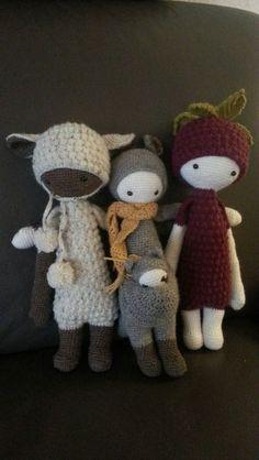 LUPO, KIRA & BERT made by Susanna / crochet patterns by lalylala