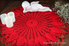Lacy Crochet: Red Doily for Valentine's Day, Free Vintage Pattern