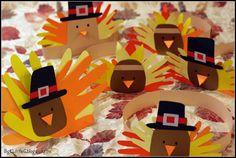 Thanksgiving Pilgrim and Indian Turkey Headband Hats