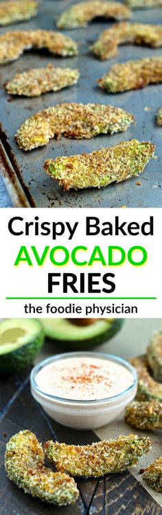 Crispy on the outside and creamy on the inside, these avocado fries are baked to golden perfection! | @foodiephysician