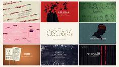 Confira o belo projeto gráfico do Oscar 2015.