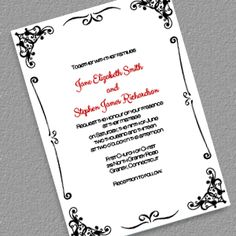 Retro Border Wedding Invitation